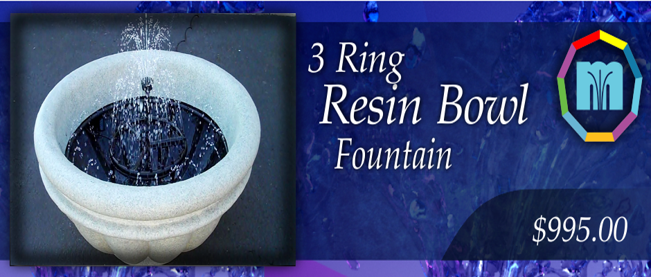 3 Ring Resin Fountain
